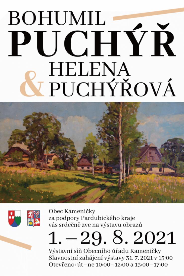 Výstava obrazů ak. malíře Bohumila Puchýře & Heleny Puchýřové